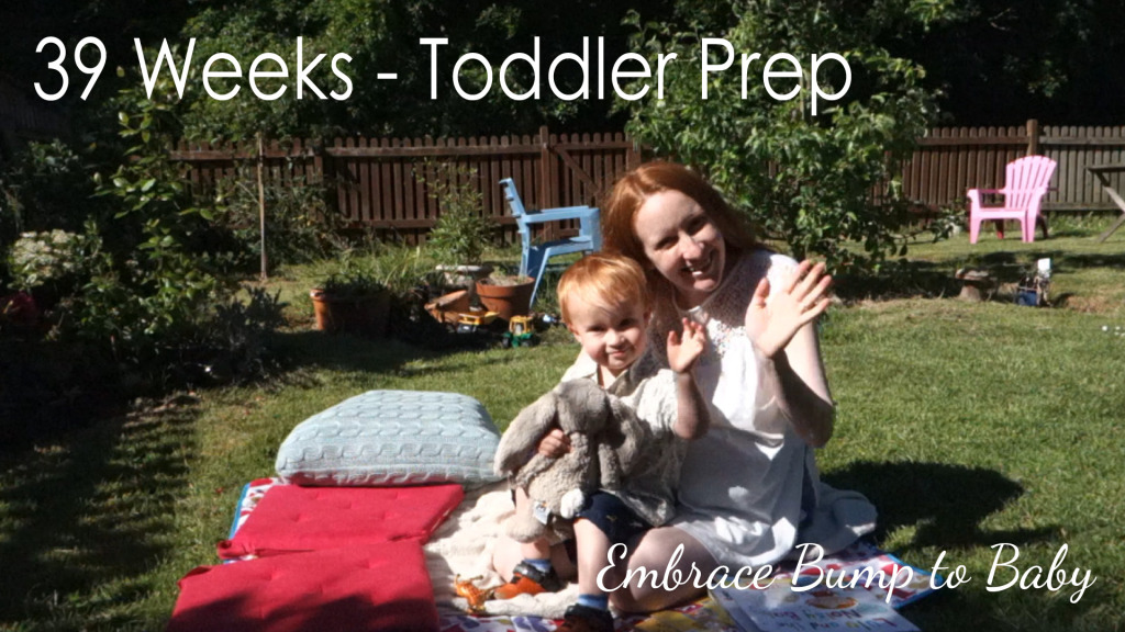 39 Weeks – Toddler prep and what I'm up to