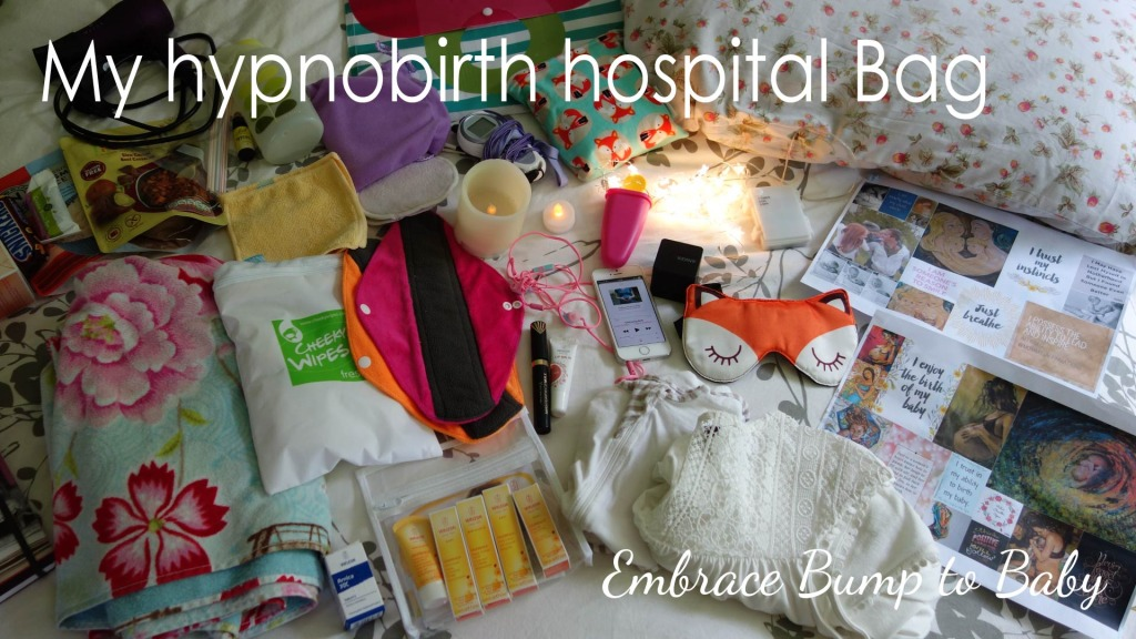 My Hypnobirth Hospital Bag – 38 Weeks Pregnant