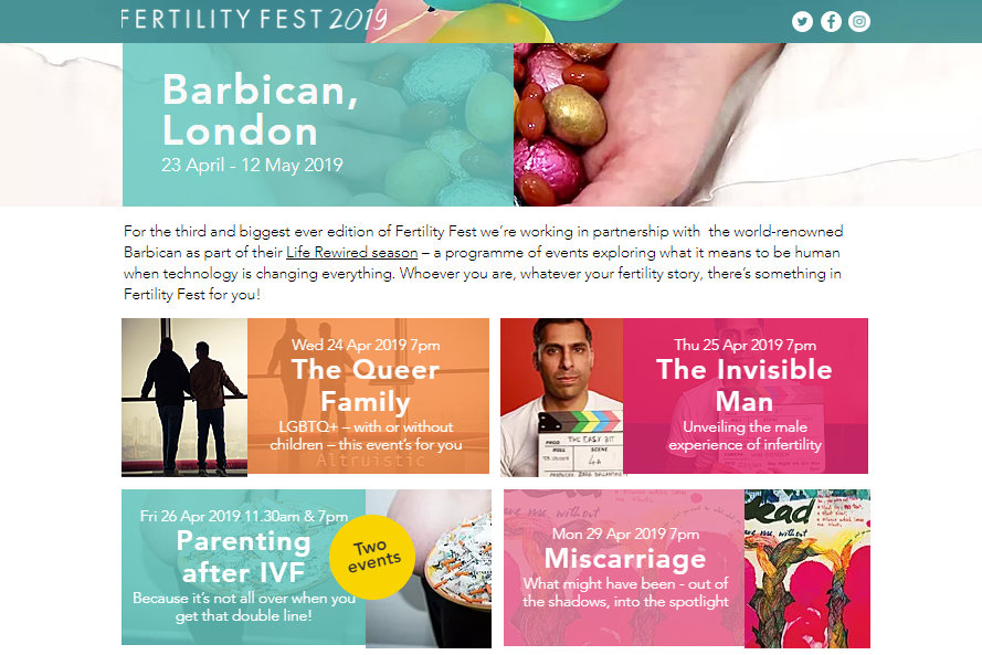 Fertility Fest Barbican London