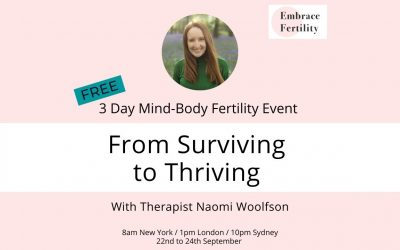 From Surviving to Thriving – 3 Day Mind-Body Fertility Event